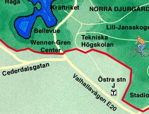 Karta Stockholms Universitet.Karta Over Norra Djurgarden