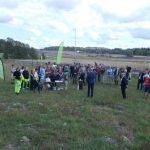 Bild som visar deltagarna samlade vid invigningen av Norra Igelbäckens reservat.
